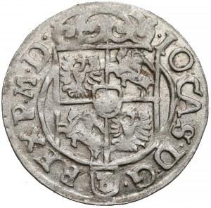 Jan II Kazimierz, Półtorak Poznań 1662 - data przy jabłku - b. ładny