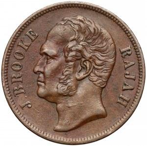 Malezja, Sarawak, 1 cent 1863