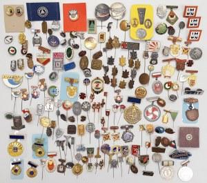 Kolekcja licznych, drobnych odznak MIX