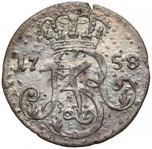 August III Sas, Trojak Gdańsk 1758