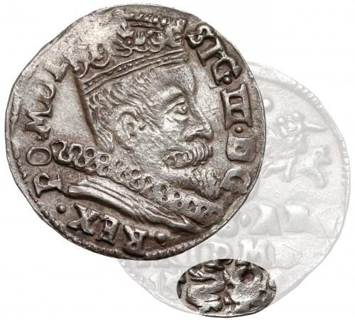 Zygmunt III Waza, Trojak Wilno 1598 - Łabędź z lewej (RRR)
