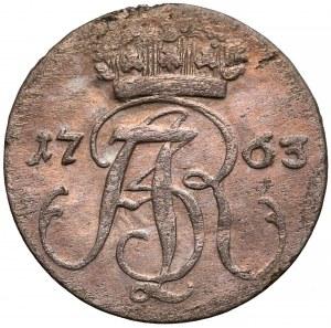 August III Sas, Trojak Gdańsk 1763 REOE