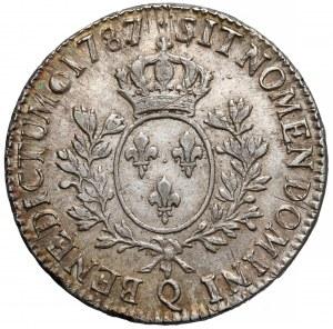 Francja, Ludwik XVI, 1 Écu Perpignan 1787