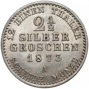 Niemcy, Prusy, Wilhelm I, 2-1/2 silber groschen 1873-A