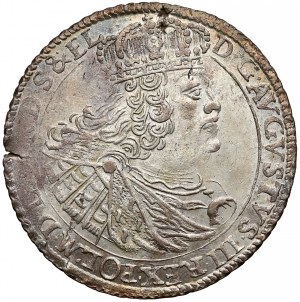 August III Sas, Ort Gdańsk 1760 - nominał nad wieńcem - b. ładny