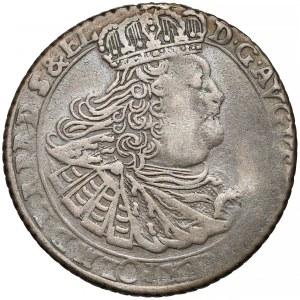 August III Sas, Ort Gdańsk 1760 - nominał przedzielony, w wieńcu