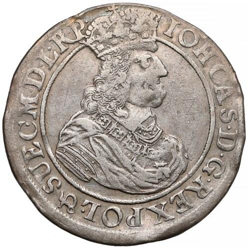 Jan II Kazimierz, Ort Gdańsk 1662 DL - bez lewka - rzadki