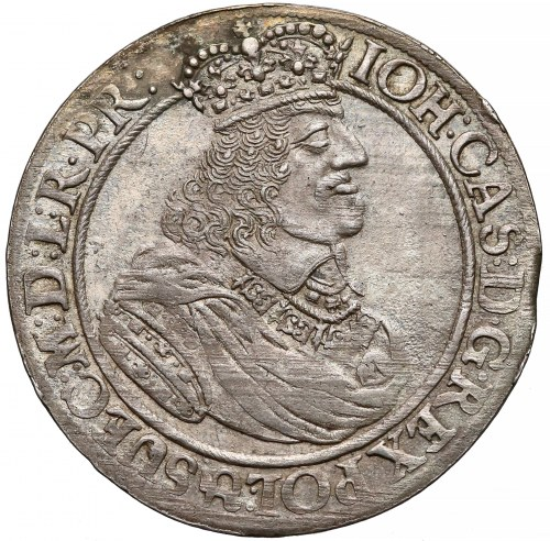 Jan Kazimierz, Ort Gdańsk 1662 - lew w tarczy