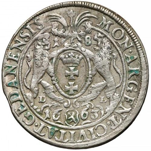 Jan II Kazimierz, Ort Gdańsk 1663 DL