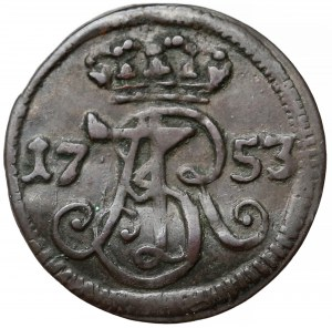 August III Sas, Szeląg Gdańsk 1753 - WR