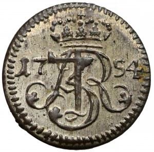 August III Sas, Szeląg Gdańsk 1754 ✿✿ - piękny