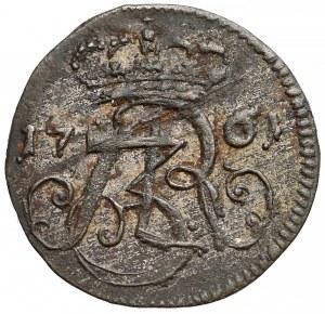 August III Sas, Szeląg Gdańsk 1761 REOE