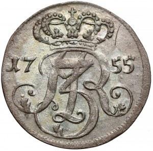 August III Sas, Trojak Gdańsk 1755 - b. ładny