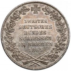 Niemcy, Brema, Talar 1865-B - Bundesschiessen