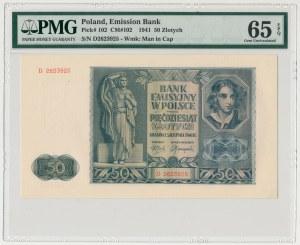 50 złotych 1941 - D - PMG 65 EPQ
