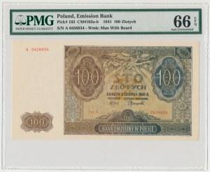 100 złotych 1941 - A - PMG 66 EPQ