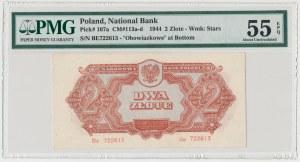 2 złote 1944 ...owe - Be - PMG 55 EPQ