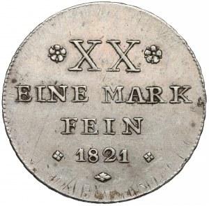 Niemcy, Schaumburg-Lippe, 1/2 talara 1821