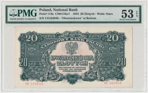 20 złotych 1944 ...owe - YO - PMG 53 EPQ