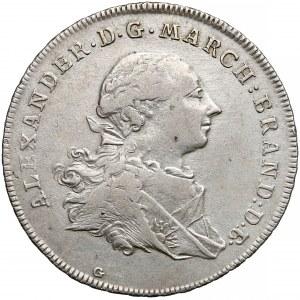 Niemcy, Brandenburgia-Ansbach, Talar 1766-G (S)