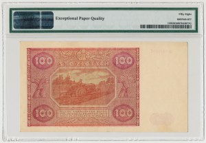 100 złotych 1946 - D - mała litera - PMG 58 EPQ