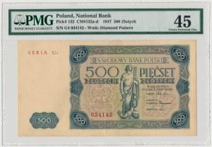500 złotych 1947 - G4 - PMG 45