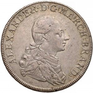 Niemcy, Brandenburgia-Ansbach, Talar 1776-G (S)