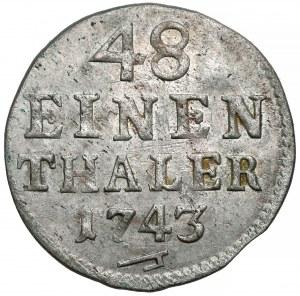 August III Sas, 1/48 talara Drezno 1743 FWóF
