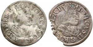 Jan II Kazimierz, Dwugrosze Gdańsk 1651 GR (2szt)