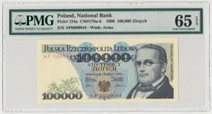 100.000 złotych 1990 - AP 0000044 - PMG 65 EPQ