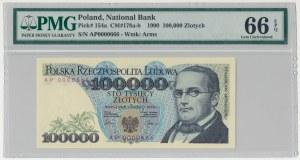 100.000 złotych 1990 - AP 0000666 - PMG 66 EPQ