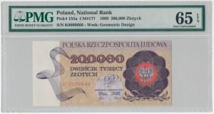 200.000 złotych 1989 - K 0000666 - PMG 65 EPQ