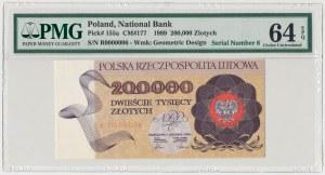 200.000 złotych 1989 - R 0000006 - PMG 64 EPQ