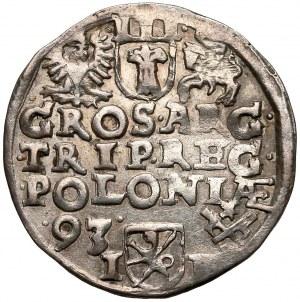 Zygmunt III Waza, Trojak Poznań 1593 - szeroka