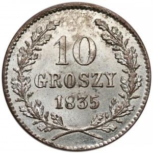 Wolne Miasto Kraków, 10 groszy 1835 - bardzo ładne