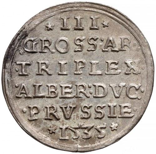 Prusy, Albrecht Hohenzollern, Trojak Królewiec 1535 - PIĘKNY