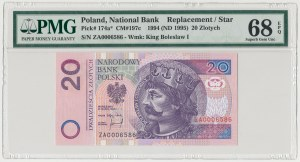 20 złotych 1994 - ZA 0006586 - seria zastępcza PMG 68 EPQ