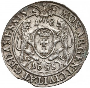 Jan II Kazimierz, Ort Gdańsk 1655 GR - ładny