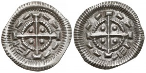 Węgry, Bela II (1131-41), Denary, zestaw (2szt) - krzyż na kole