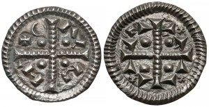 Węgry, Kalman (1095-1116) i anonim, Denary, zestaw (2szt) - krzyż