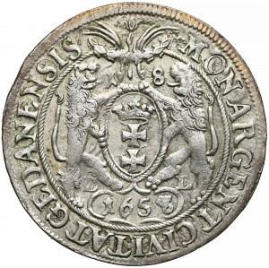 Jan II Kazimierz, Ort Gdańsk 1658/7 DL - GEDANENSIS
