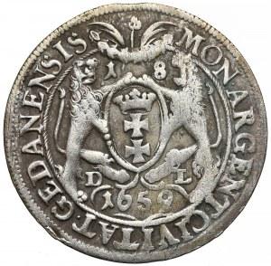 Jan II Kazimierz, Ort Gdańsk 1659 DL - w 'płaszczu'