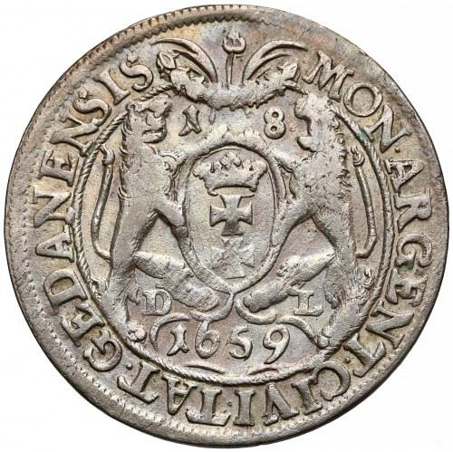 Jan II Kazimierz, Ort Gdańsk 1659 DL - w 'zbroi'