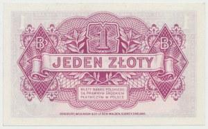 Londyn 1 złoty 1939 - bez serii i numeracji