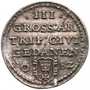 Stefan Batory, Trojak Gdańsk 1582 - odbitka jednostronna