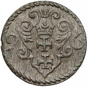 Zygmunt III Waza, Denar Gdańsk 1596 - duże cyfry