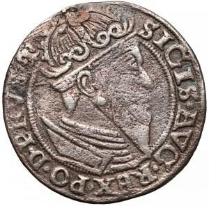 Zygmunt II August, Trojak Gdańsk 1557 - popiersie w obwódce