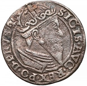 Zygmunt II August, Trojak Gdańsk 1557 - w obwódce - rzadki
