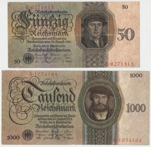 Niemcy, 50 i 1.000 mark 1924 (2szt)
