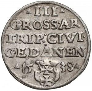 Zygmunt I Stary, Trojak Gdańsk 1538
